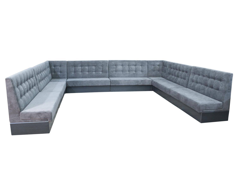 Большой угловой диван для ресторана Токио-Sity, г.Санкт-Петребург