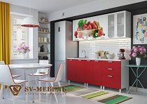 КЛУБНИКА Набор мебели для кухни