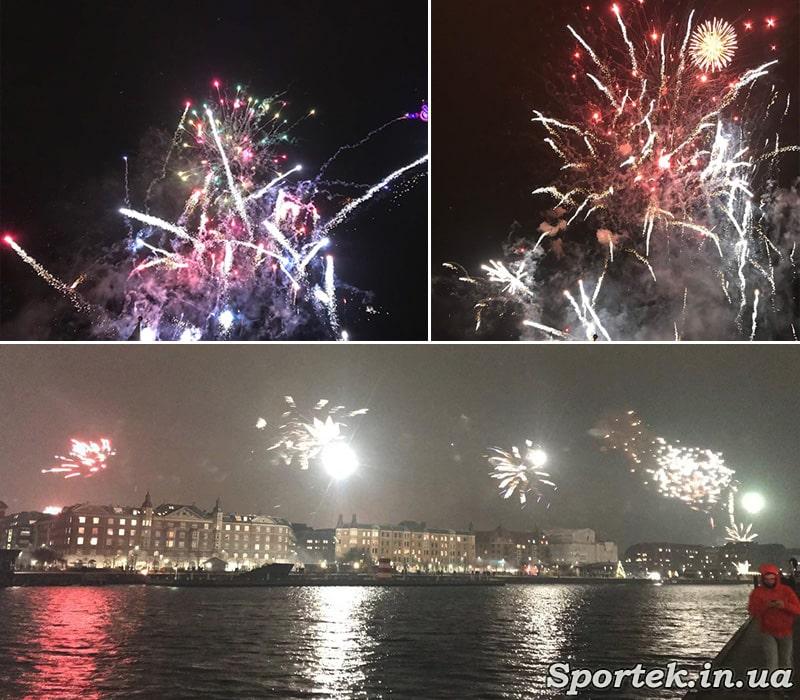 Новогодние фейерверки в Копенгагене