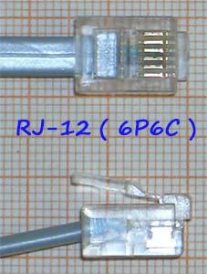 RJ-12 разъем 6P6C