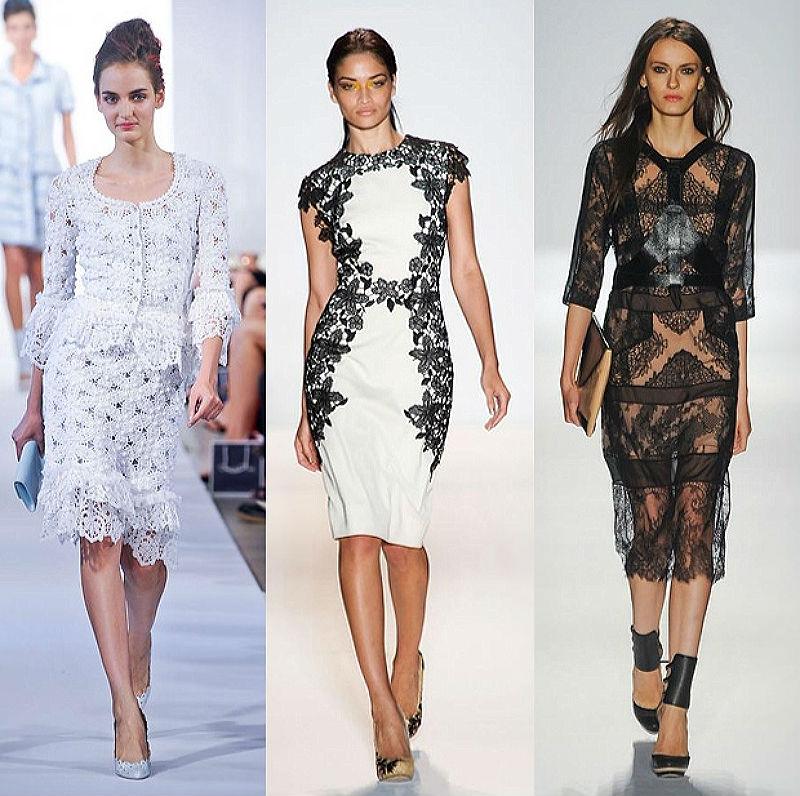 Кружевные платья.Современная мода