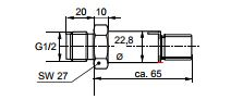 Размеры Siemens QBE9001-P10