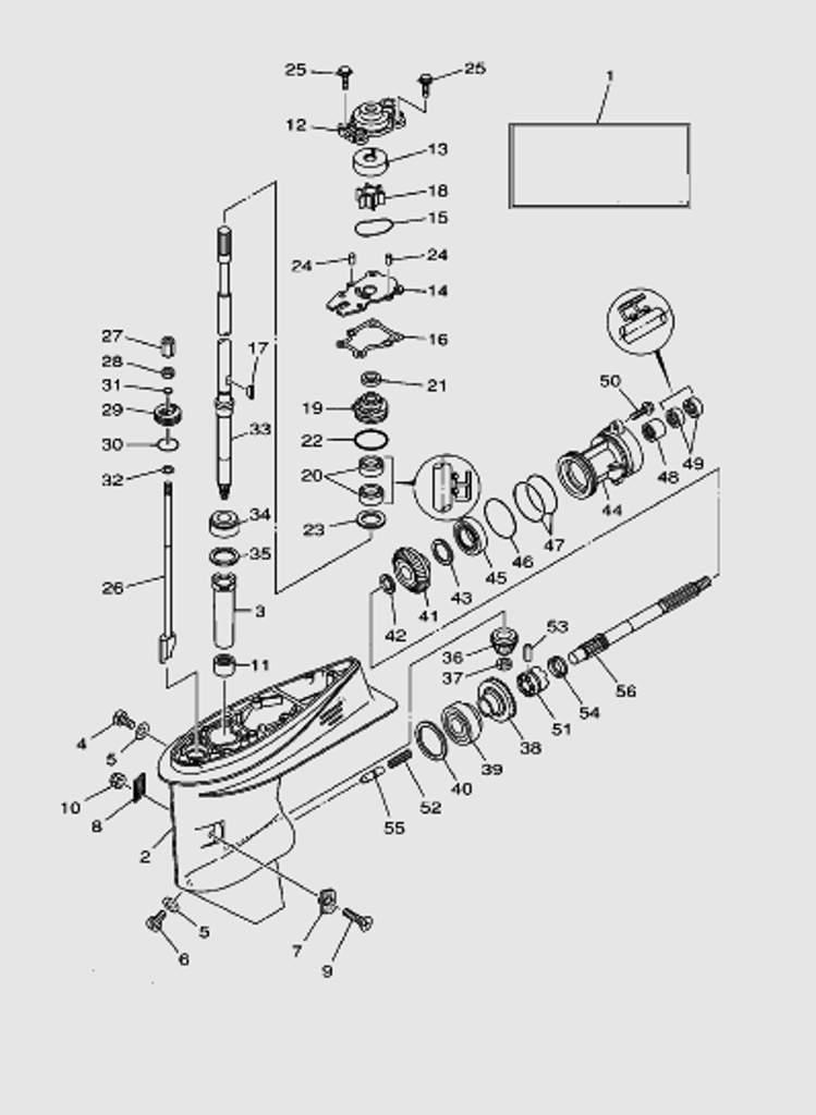 Редуктор для лодочного мотора T40 Sea-PRO