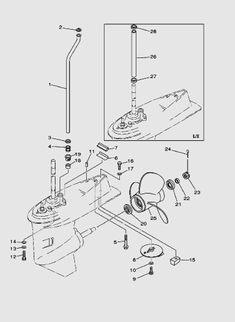 Редуктор часть 2 для лодочного мотора T40 Sea-PRO