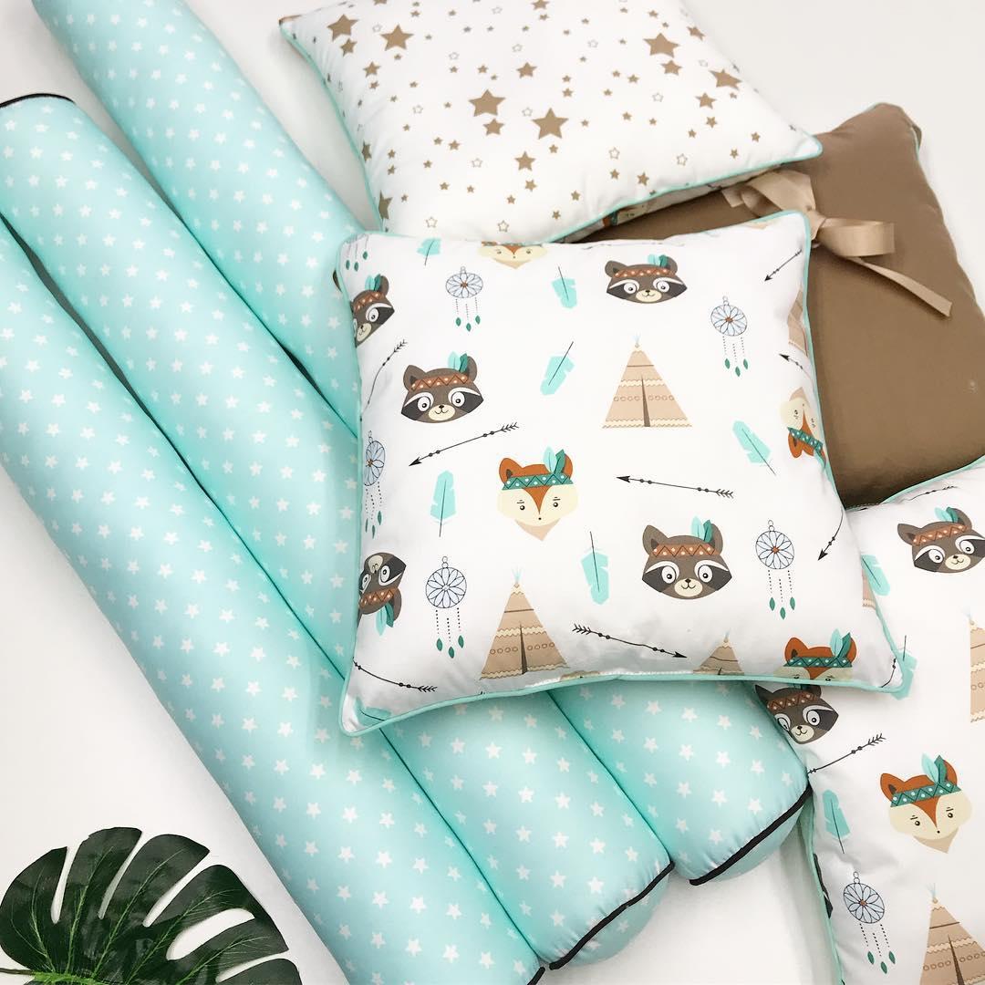 Круглые бортики валики в кроватку новорожденному