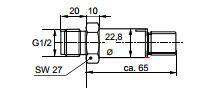 Размеры Siemens QBE9001-P25