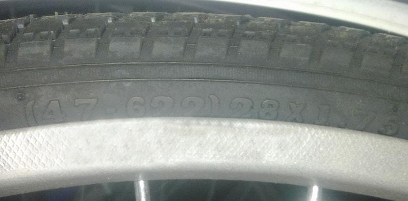 Диаметр колеса написан на покрышке
