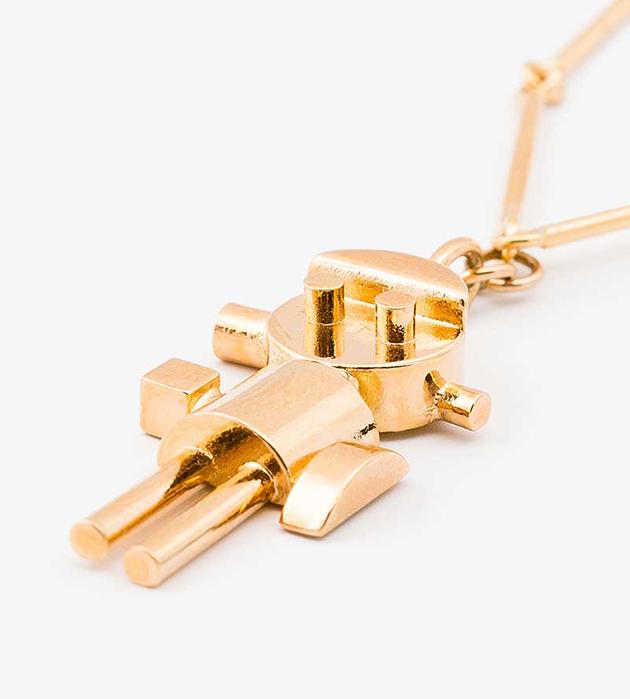 купите стильное украшение от Sabrina Dehoff - Necklace pearl chain curbed+robo