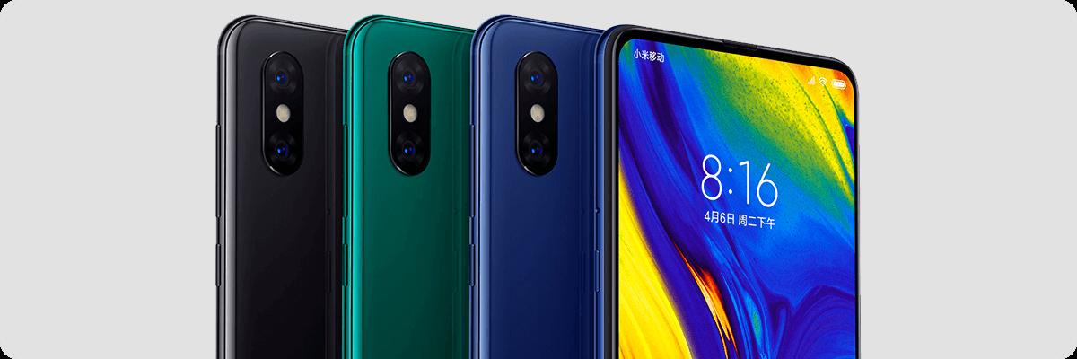 Xiaomi Mi Mix 3 купить в Москве. Jade Green, Onyx Black, Sapphire Blue