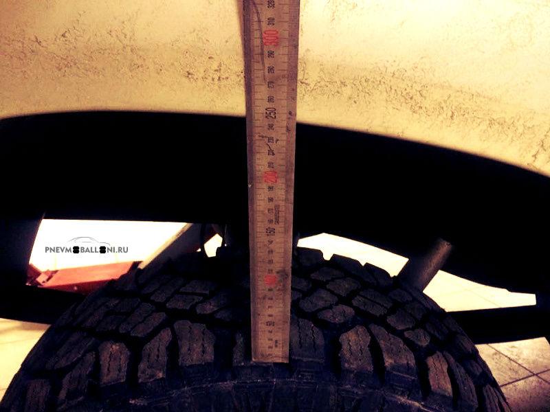 Высота арки над колесом Патриота