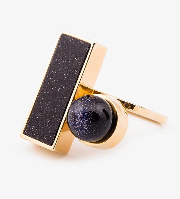 купите оригинальное кольцо с жемчужиной Swarovski от Sabrina Dehoff - Ring with rectangular+pearl