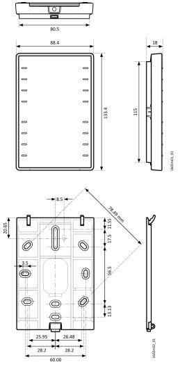 Размеры Siemens QMX3.P74