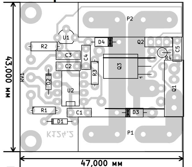 Регулятор мощности с ШИМ 12-50В, 30А. Радиоконструктор RP124.2