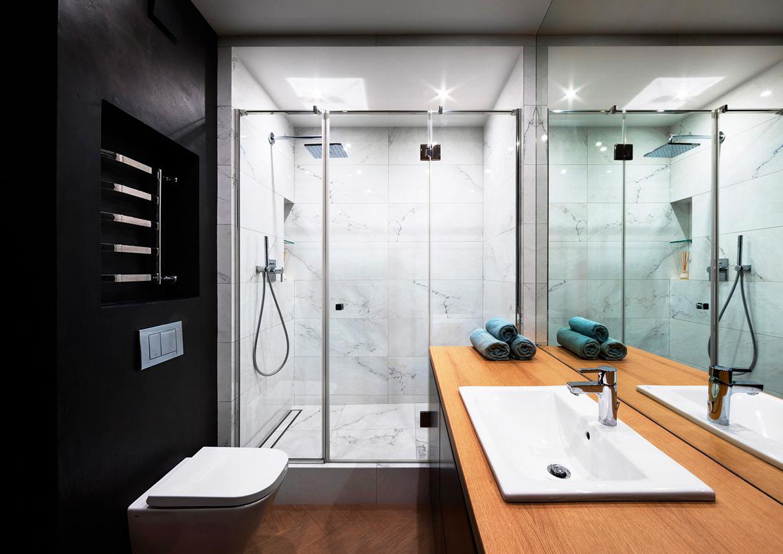 Современная Ванная комната в стиле минимализм