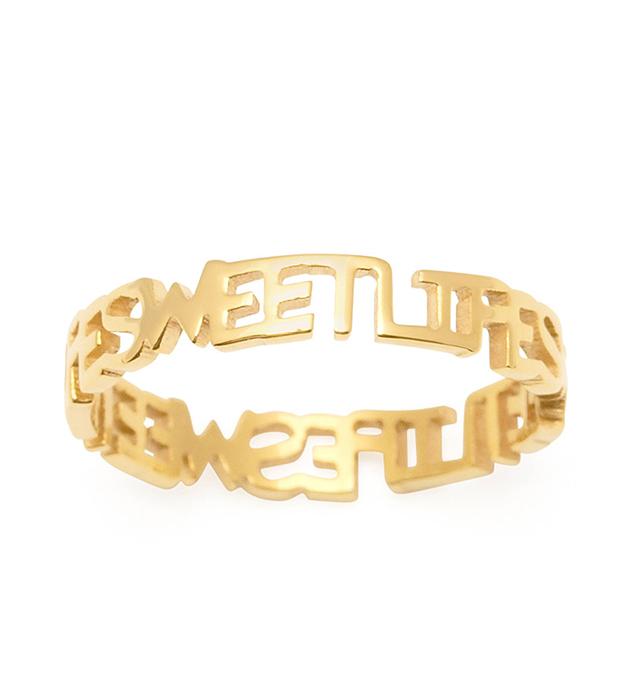 купите оригинальное золотистое кольцо Sweet Life на фалангу от итальянского бренда Maria Francesca Pepe