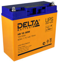 Аккумуляторные батареи ИБП DELTA HR-W 12-80W
