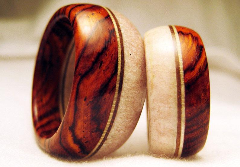 деревянные свадебные кольца