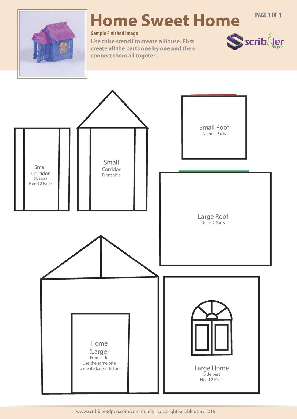 траферет для 3Д ручки - дом