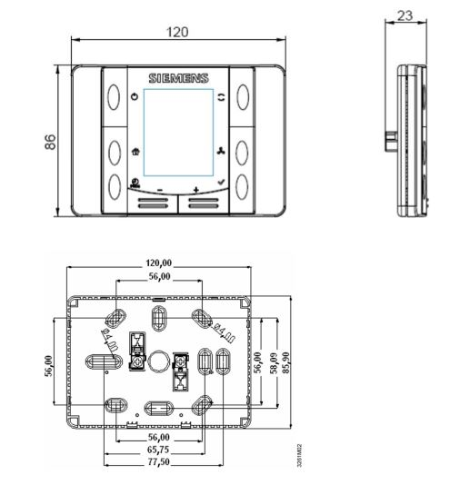 Размеры Siemens POL822.70/STD