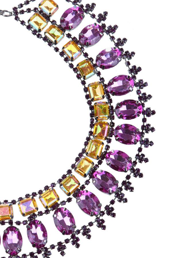 купить Вечернее женское колье-ожерелье из кристаллов купить фото