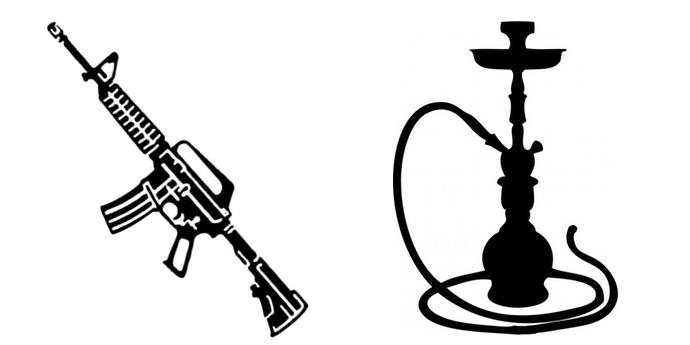 Кальян и автомат