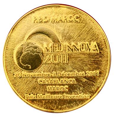 Золотая медаль инновационного салона Касабланка Марокко