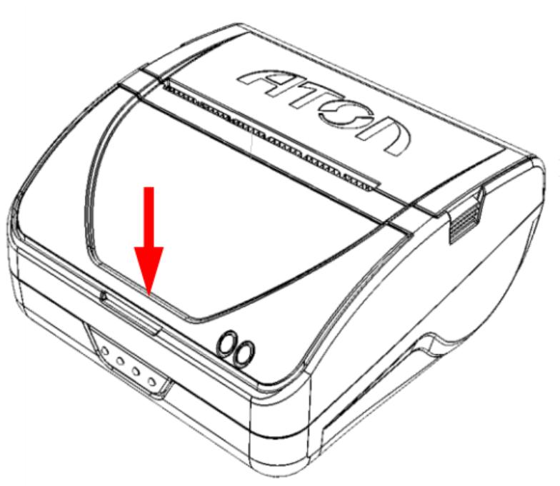 Уставить крышку отсека (совместить фиксаторы с  пазами в корпусе ККТ согласно рисунку 4,  защелкнуть крышку, надавив на переднюю часть  крышки).