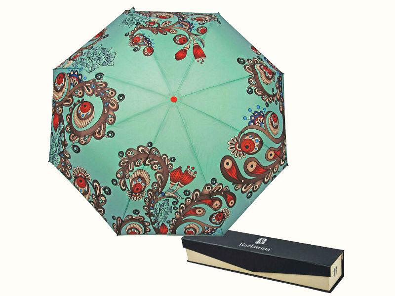 Зонтик автомат с растительным орнаментом