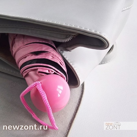 Розовый мини зонт в капсуле купить недорого в Москве