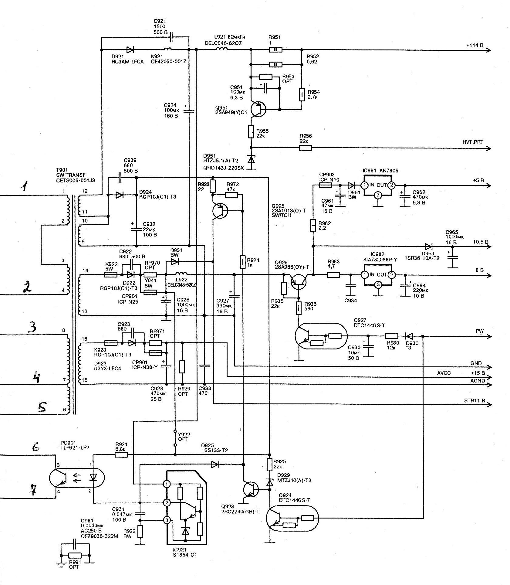 Схема jvc av 14te