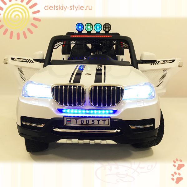 двухместный электромобиль bmw t005tt, river auto, 4х4, купить, цена, стоимость, заказать, бесплатная доставка, заказ, отзывы, официальный дилер, обзор, детский электромобиль bmw t005tt, интернет магазин, доставка по россии