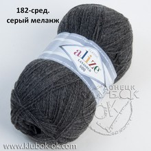 lanagold 800 182-сред.серый меланж