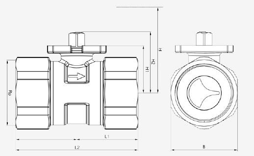 Размеры клапана Siemens VBI60.40-25L