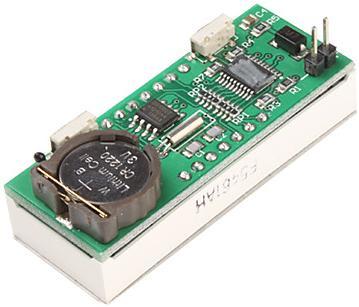 Модуль RC008. Модуль часов реального времени (RTC) на базе микросхемы DS1302 с поддержкой функций календаря, термометра и вольтметра (с батарейкой CR1220)