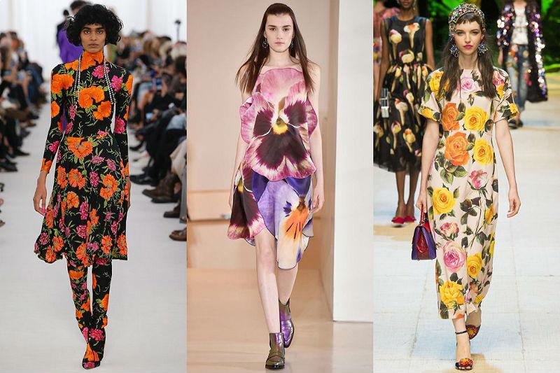 Модный стиль цветы