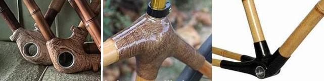 Скрепление бамбуковых труб в раме