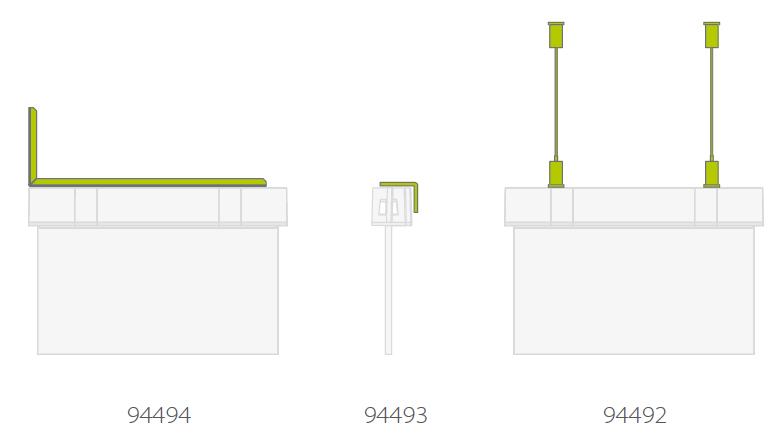 Дополнительные аксессуары световых указателей эвакуационного выхода Suprema LED D-std NT IP54