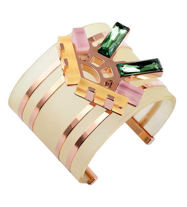 купите эффектный браслет Pastel из полихромного плексигласа oт итальянского бренда Giuliana Mancinelli