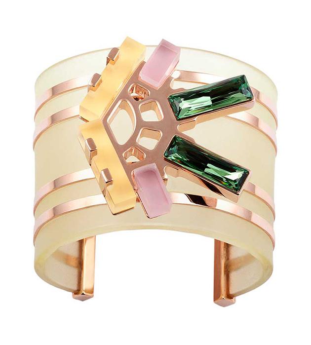 стильный браслет-манжет из позолоченной латуни цвета розового золота от Giuliana Mancinelli - Pastel bracelet