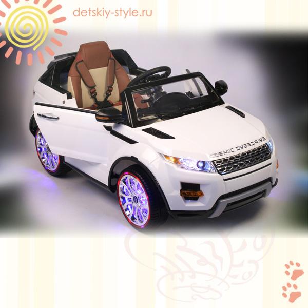 электромобиль river toys range rover а111аа, vip, купить, цена, электромобиль рэндж ровер a111aa, вип, стоимость, заказ, на резиновых колесах, заказать, бесплатная доставка, кожаное сидение, доставка по россии, отзывы, видео обзор