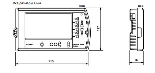 Размеры панели оператора Siemens PXM20