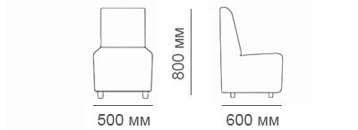 Габаритные размеры кресла Дели