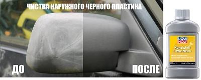 Полироль для чистки наружных пластиковых элементов на кузове автомобиля