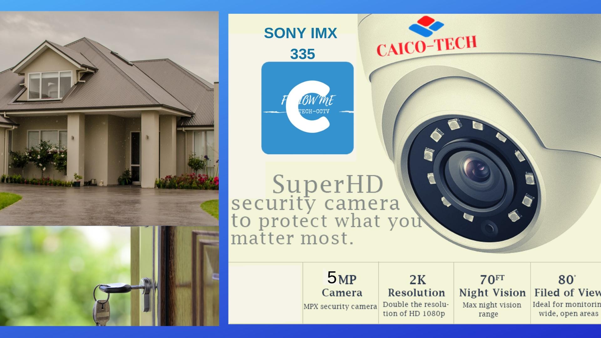 CFAICO TECH CCTV CMOS SONY IMX 335 5Mpix