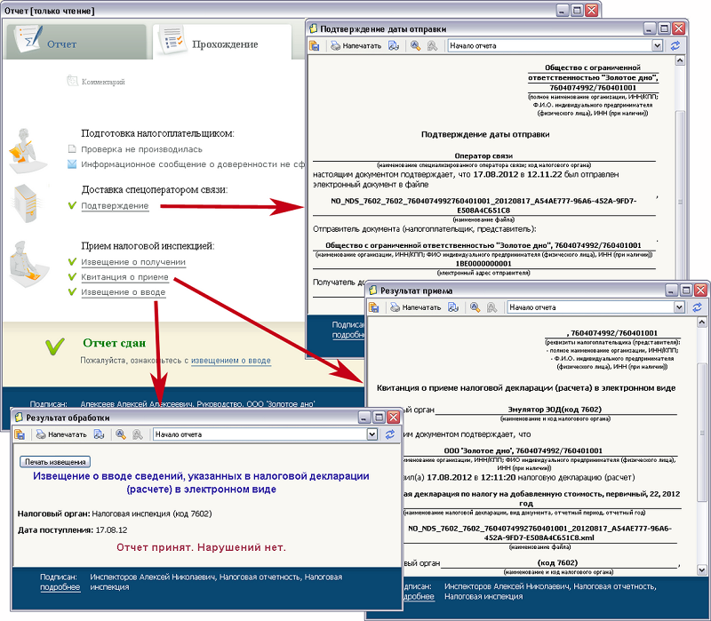 Налоговая и бухгалтерская электронная отчетность в ФНС РФ через СБИС