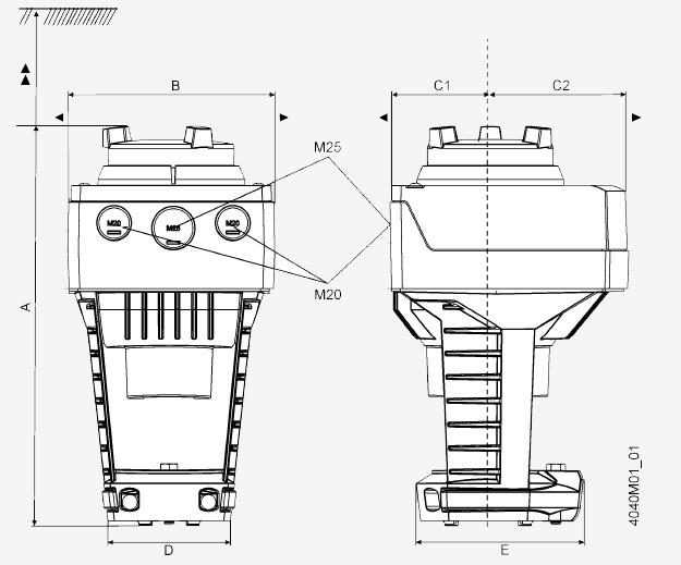 Размеры привода Siemens ASC10.51