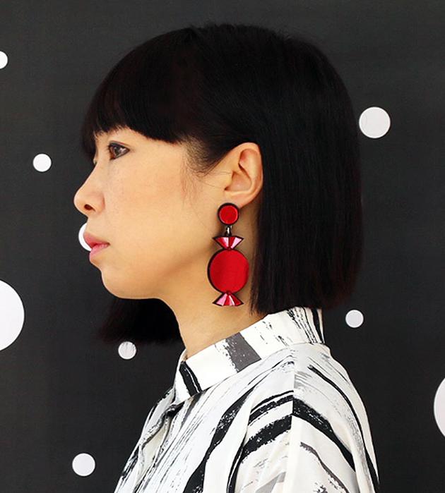эффектные серьги-конфеты от Jennifer Loiselle - Quality Treat Red Earrings