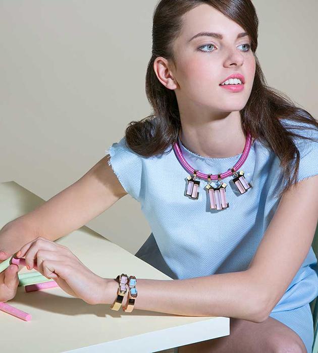 необычный браслет из позолоченной латуни от итальянского бренда Giuliana Mancinelli - Rose Gold