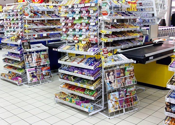 Желательно, чтобы продаваемые в предкассовой зоне товары помещались в карман