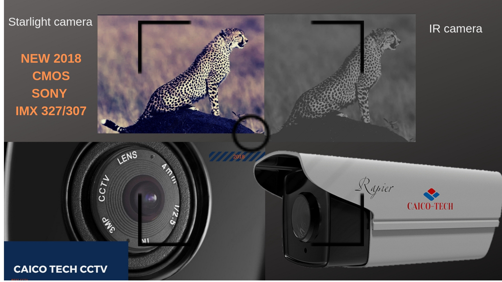 CAICO TECH CCTV STARLIHGT КАМЕРА CMOS SONY IMX 307/327